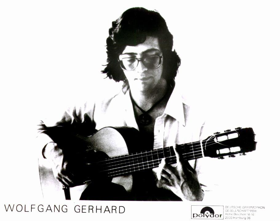 Künstler Wolfgang Gerhard, alte Aufnahme für Polydor