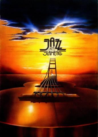 Plakat zu Jazz Meets Flamenco. Das musikalische Projekt von Wolfgang Gerhard wurde mit dem deutschen Schallplattenpreis gerühmt.